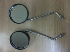 Yamaha RX100 RX125 Pair of Black Plastic Mirrors QMP106