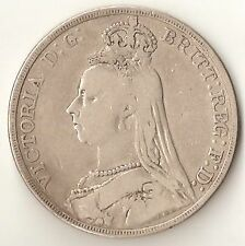 1892 Great Britain Queen Victoria Old Head Silver Crown (s22)