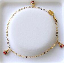 Kinderschmuck Armband mit 3 Marienkäfer 18cm 333 Gold