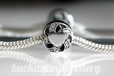 GENUINE PANDORA PAVE RIBBON HEART LOVE RADIANT OPENWORK CHARM WITH POUCH