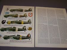 VINTAGE..MACCHI C.200 VARIANTS..COLOR PROFILES/HISTORY...(652G)