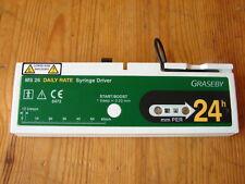 Graseby MS26 jeringa Driver-Configuración de bomba de perfusión de 24 horas