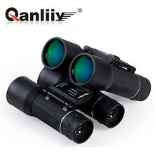 UK HOT 30X40 QANLIIY Dual Focus Zoom Green Optic Lens Armoring Travel Telescope