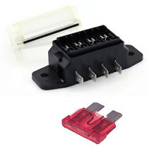 4 Way STANDARD (ATO) Blade Fuse Box / Holder – 12v & 24v Universal