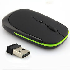 1 Pcs Wireless Mouse MICE Mini USB Optical 2.4G for Laptop PC Black Ultra-Slim N