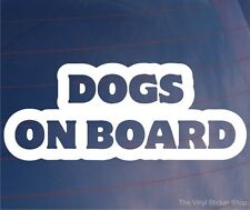 DOGS ON BOARD Novelty Car/Van/Window/Bumper Sticker - Ideal for Dog Owners