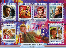 Guinea-Bissau 2016 MNH Tribute to David Bowie 6v M/S Labyrinth Prestige Stamps