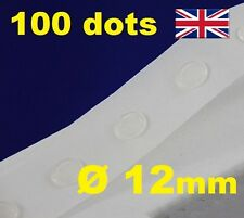 100 Glue Dots Sticky Craft Clear Card Making Scrap Booking Removable 12mm STRONG