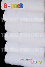 Luxury Hotel & Spa Towel Premium Cotton Bamboo White, Hand Towel - Set of 6