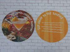 BEER COASTER    BAHAMA BREEZE Restaurants Pineapple-Coconut Martini Liquor Drink