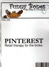 New Cling Riley & Company Funny Bones Rubber Stamp PINTEREST retail therapy