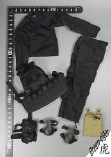 A314 1:6 Scale ace Military action figure parts - Black BDU w/ Hellcat Vest Set