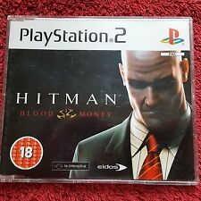 HITMAN BLOOD MONEY PROMO SONY PLAYSTATION 2 PS2 COMPLETE GAME