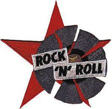 Rock N Roll Record Star Rockabilly Embroidered Iron On Jeans Shirt Badge Patch