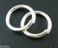 50 x Silver Plated 12mm Jump Rings - 1.5mm thick - Iron Unsoldered  - JR4