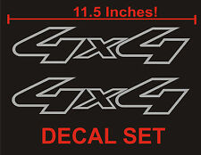 4x4 Truck Bed Decals, METALLIC SILVER Set for Ford F-150, Super Duty, and Ranger