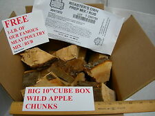 """BIG 10"""" CUBE BOX WILD APPLE CHUNKS CHIPS FOR BBQ SMOKER GRILLING RESTAURANT USE"""