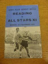Lectura 02/11/1970 V All-Stars XI [Denis Allen beneficio] (muy arrugada, doblada, T