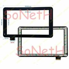 "Vetro Touch screen Digitizer 9,0"" Majestic TAB-493 3G Tablet PC Nero"