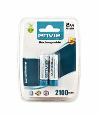 ENVIE 2 pcs RECHARGEABLE AA 2100 MAH Ni-CD BATTERY/CELL