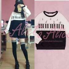 Piano Broderie Long Sleeve Hoodie Kawaii Coat Pretty Mori Girl Vintage Lolita JP