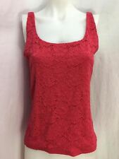 White House Black Market Rouge All Over Lace Tank Top, Women's Size M, NWT!