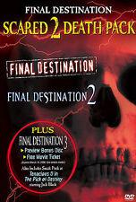 Final Destination Scared 2 Death Pack DVD, Seann William Scott, Chad Donella, Ro