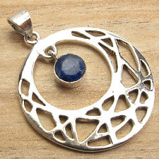 925 Sterling Silver Plated Over Solid Copper Blue SAPPHIRE Pendant Fashion Style