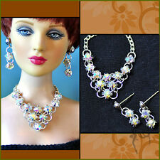 "Tonner Tyler 16"" doll rhinestone jewelry necklace+earring for 1/4 Tonner"