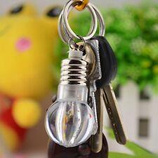 Cute Mini Colorful LED Flashlight Light Bulb Lamp Key Ring Keychain Lamp Torch