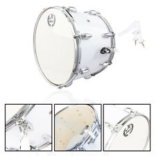 New Stainless Steel & Wood Marching Snare Drum Percussion Poplar Silver
