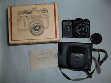 ZENIT ET SLR Russian camera in BOX with MC HELIOS-44M-6. EXCELLENT!