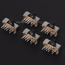 10x SK23D06 Slide Switch 2P3T 8Pin W/ Handle 6mm 3 Position for DIY Electronic