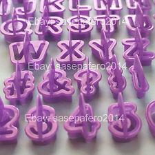 Alphabet letters and numbers cutters for fondant 40 pieces set. Cortador letras