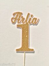 Birthday personalised name&number (1-9) layered cake topper, big colour range