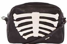 Iron Fist Wishbone Skeleton Bones Scary Punk Rock Goth Handbag Purse Clutch Bag