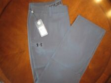 Under Armour Golf Allseasongear Checked Gray Pants Men's: 38×34 #1248091 018