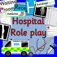 HOSPITAL role play CD resource pack-EYFS/ KS1- Ourselves, People who help us