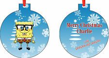 Personalized Spongebob Squarepants Ornament ( Add Any Message You Want)