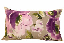 Pretty Lilac Floral Boudoir Bolster Cushion Cover Shabby Chic