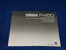 Yamaha P-450 Turntable Owner's Manual