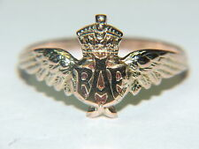 9CT. Stamped RAF Wings Sweetheart Ring, by Charles Horner.