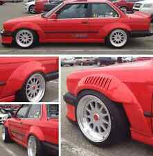 BMW E30 '84-'92 GTR-S Rivet On Fenders Drift Race Fiberglass Body Kit Overfender