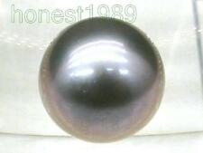 9.3mm violet gray loose aaa++ south sea round half drilled genuine single pearl