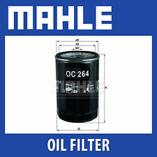 Mahle Oil Filter OC264 - Fits Audi, Seat, Skoda, VW - Genuine Part
