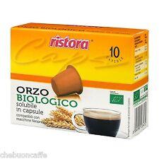 60 CAPSULE CIALDE CAFFE' ORZO BIO RISTORA BIOLOGICO NESPRESSO DE LONGHI KRUPS