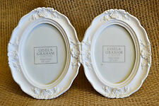 White Cameo Photo Frame Vintage Double Picture Frame Home Decor