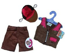 Teddy Bear Clothes fits Build a Bear Teddies Fishing Outfit & Cap Bears Clothing