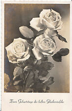 Greetings Postcard - Happy Birthday In German -  Showing Roses    MB1676