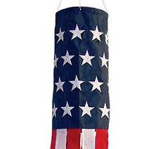 USA American Flag Wind Sock Garden Outdoor Wind Spinner Military Patriotic Gift